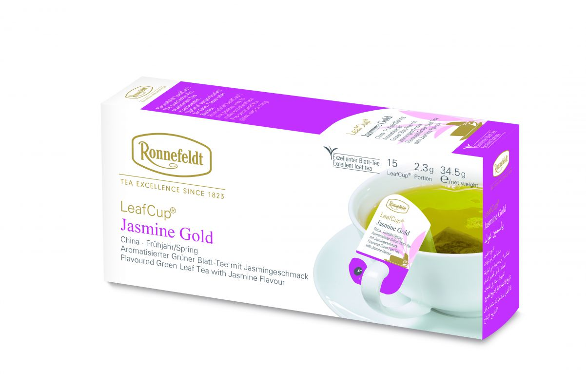 Žalioji arbata LeafCup® Jasmine Gold 15 vnt.
