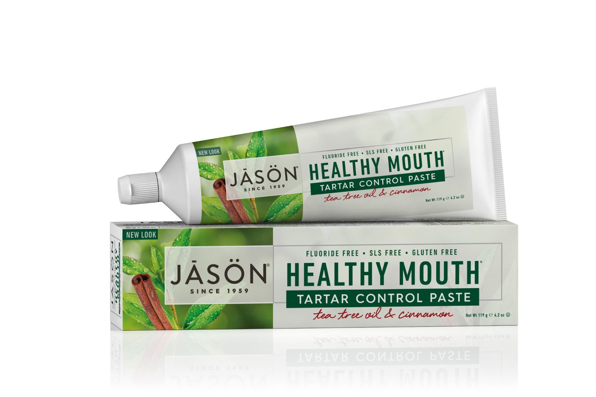 MAŽINANTI AKMENŲ SUSIDARYMĄ dantų pasta su arbatmedžio aliejumi Jason HealthyMouth, 119 g