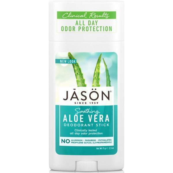 Sausas dezodorantas JASON su alavijais, 71 g