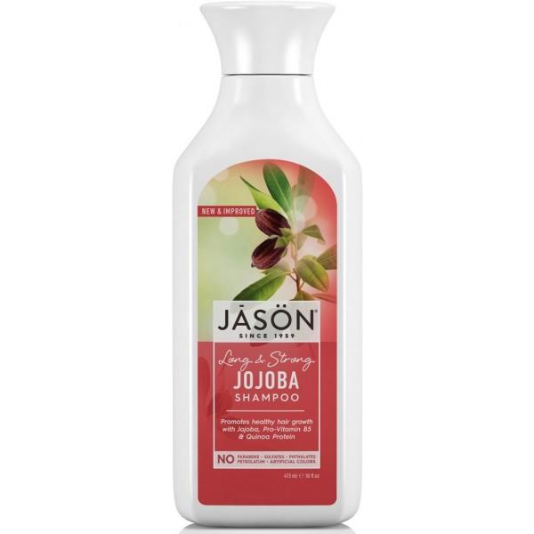 Šampūnas silpniems plaukams JASON  su simondsijų aliejumi, 454 ml