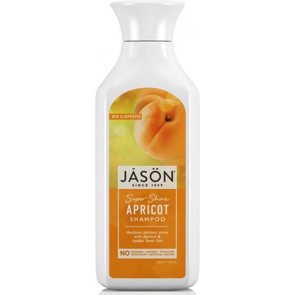 Žvilgesio suteikiantis šampūnas JASON su abrikosų kauliukų aliejumi, 454 ml