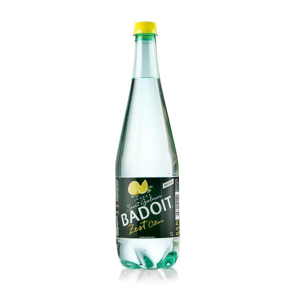 Gazuotas mineralinio vandens gėrimas BADOIT, citrinų skonio 1L