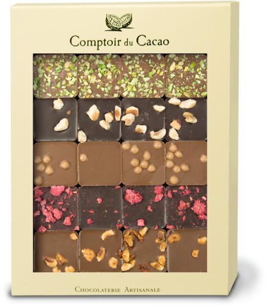 Šokolado rinkinys COMPTOIR du CACAO, su langeliu, 200 g