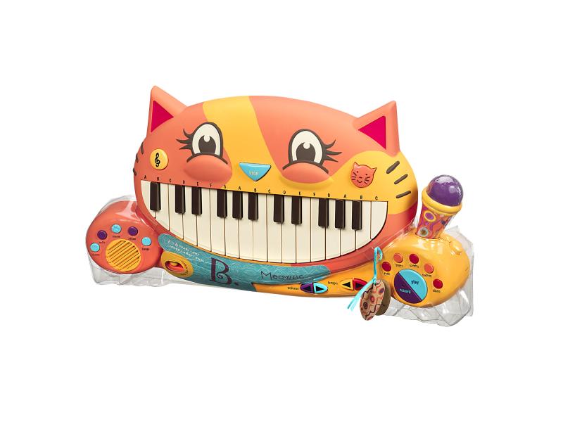 Katinas-fortepijonas B-TOYS Meowsic (BX1025BT), 1 vnt.