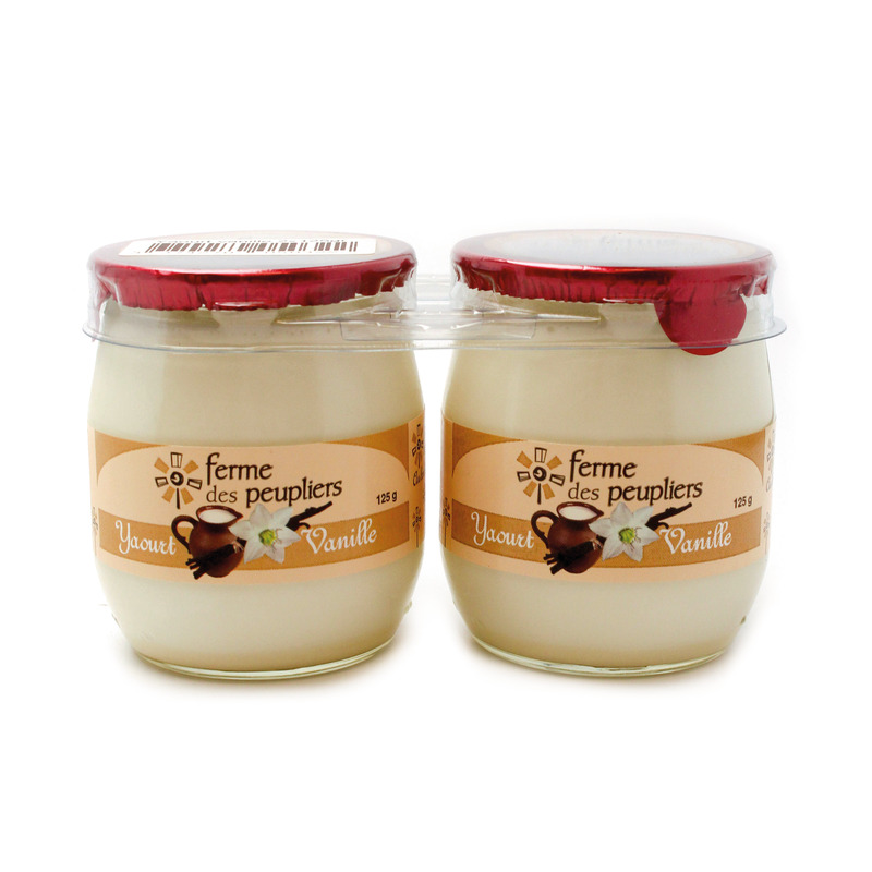 Jogurtas su vanile FERME DES PEUPLIERS, 2x125g