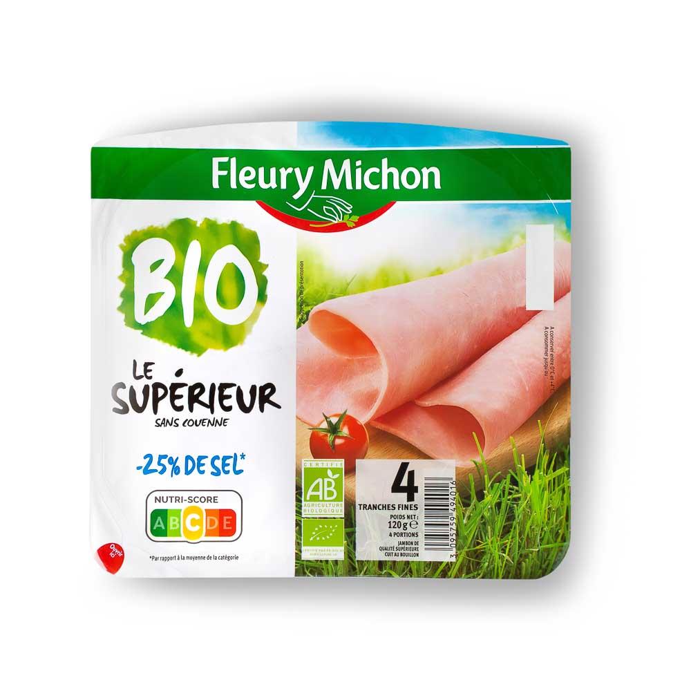 Ekologiškas pjaustytas kumpis (be odelės) FLEURY MICHON, 120 g
