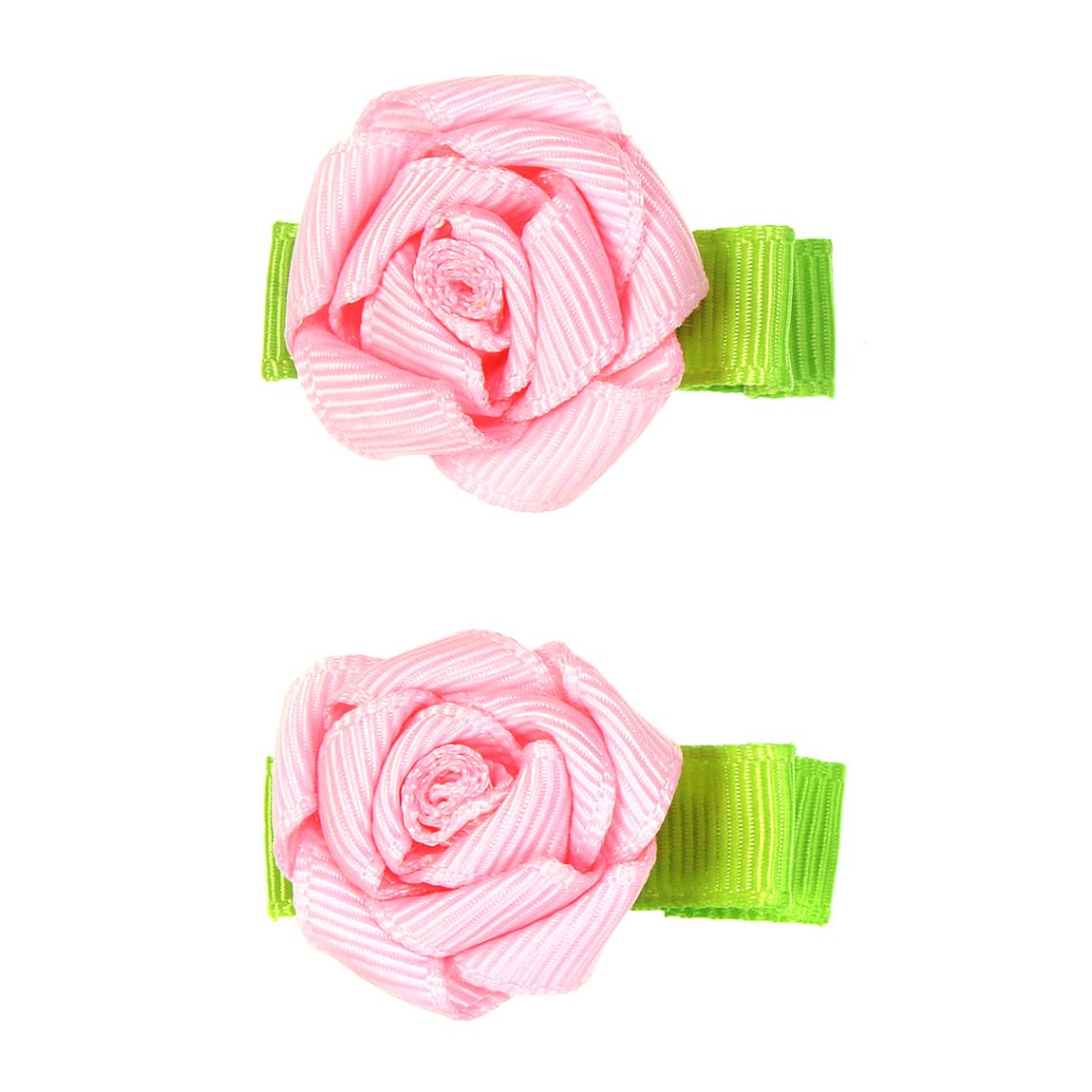 """MINI MISS Kaspinėliai """"Mini roželės"""" su metaliniais segtukais, 2 vnt."""
