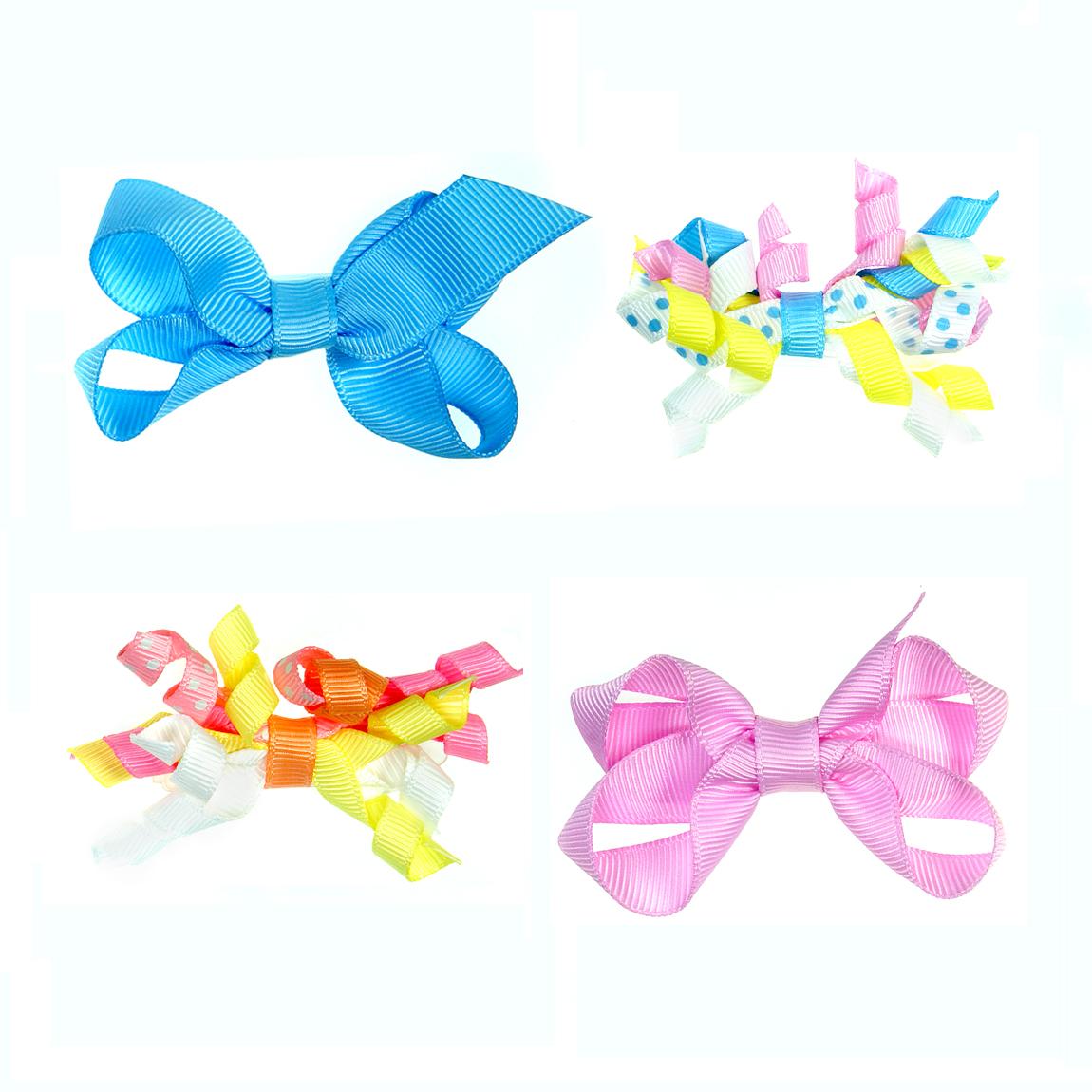 """MINI MISS Kaspinėlių rinkinys """" Linksmuolėms"""" su plastikiniais segtukais, rožinė/žydra, 4 vnt."""