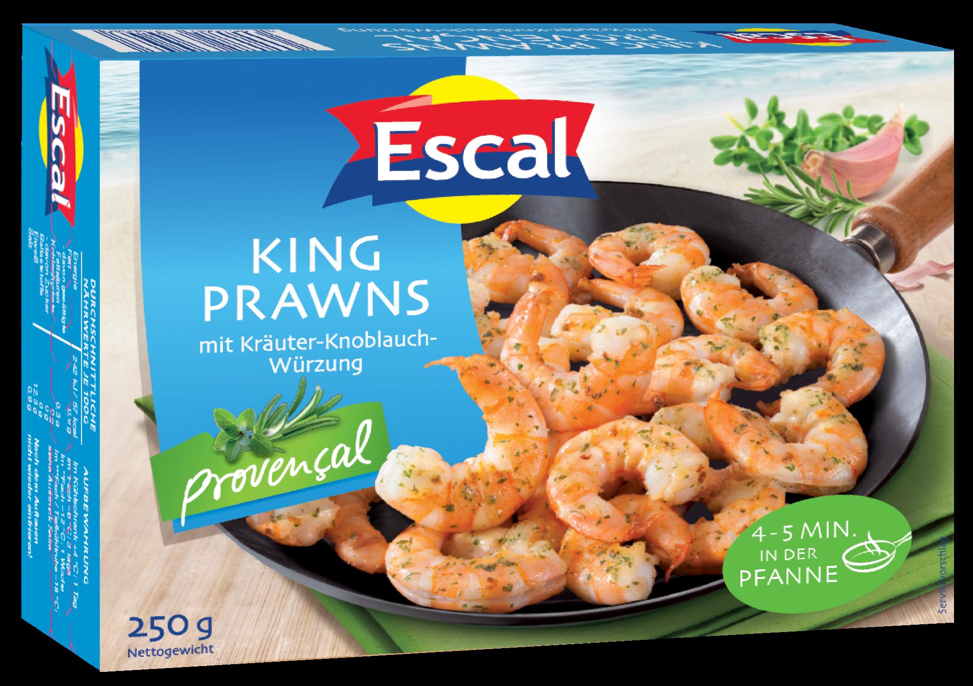 Marinuotos baltakojės blyškiosios krevetės Provencal ESCAL, 250g
