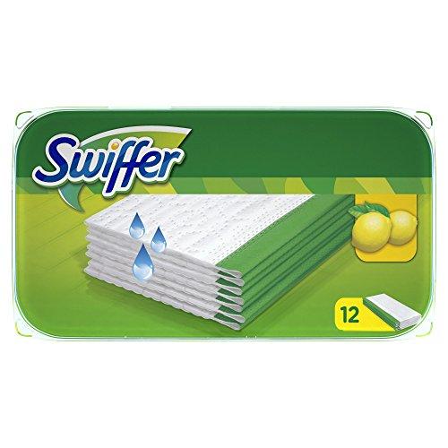 Šlapios pakeičiamos grindų šluostės SWIFFER, 12 vnt.