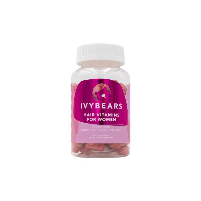 Vitaminai meškiukai moterims IVYBEARS skatinantys plaukų augimą, N60