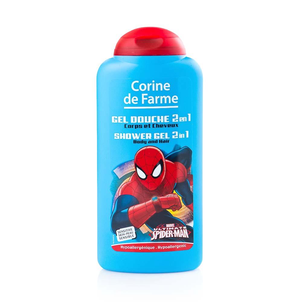 Gelis kūnui ir plaukams CORINE DE FARME Spidermen, 250 ml