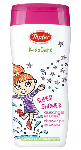 """Prausiklis mergaitėms TÖPFER """"Supershower"""", 200 ml"""