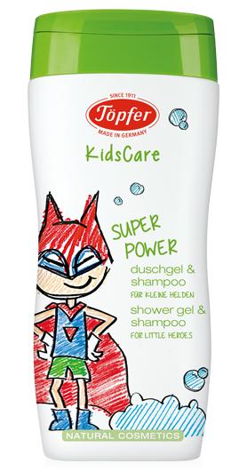 """Prausiklis ir šampūnas berniukams TÖPFER """"Superpower"""", 200 ml"""