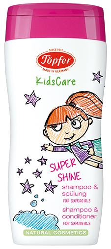 "Šampūnas ir kondicionierius mergaitėms TÖPFER ""Supershine"", 200 ml"