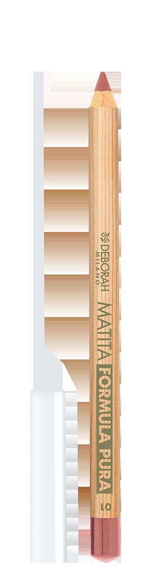 Lūpų pieštukas DEBORAH FORMULA PURA 01 NUDE BEIGE, 1 vnt.