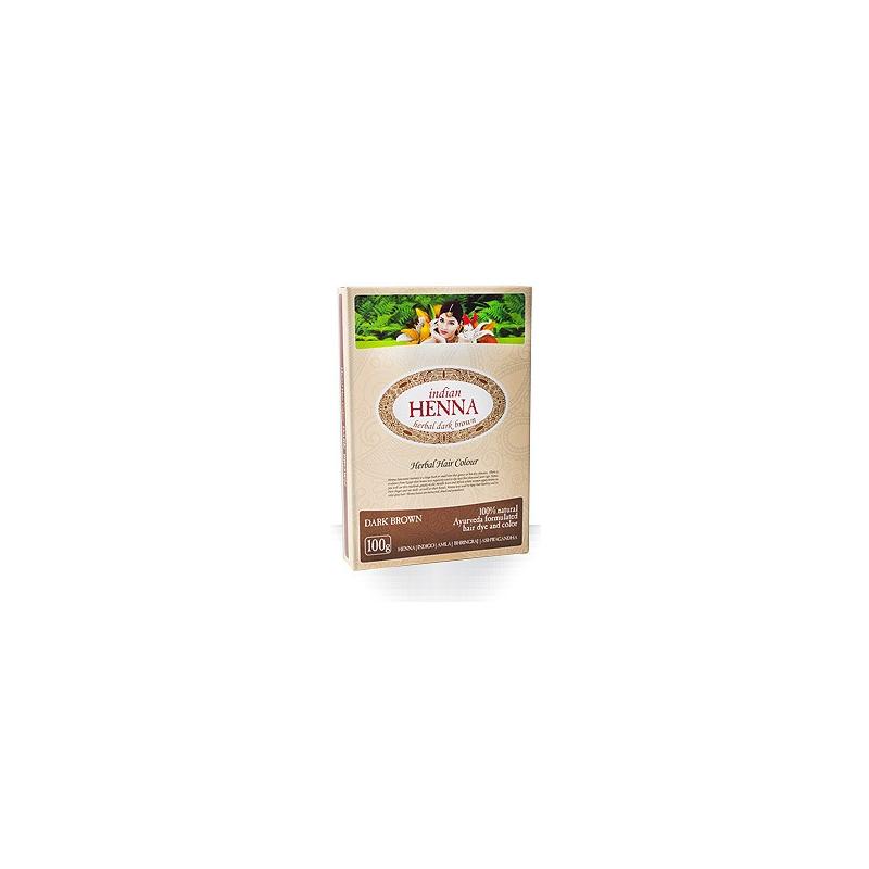 Natūralūs tamsiai rudi plaukų dažai Chna INDIAN HENNA, 100 g