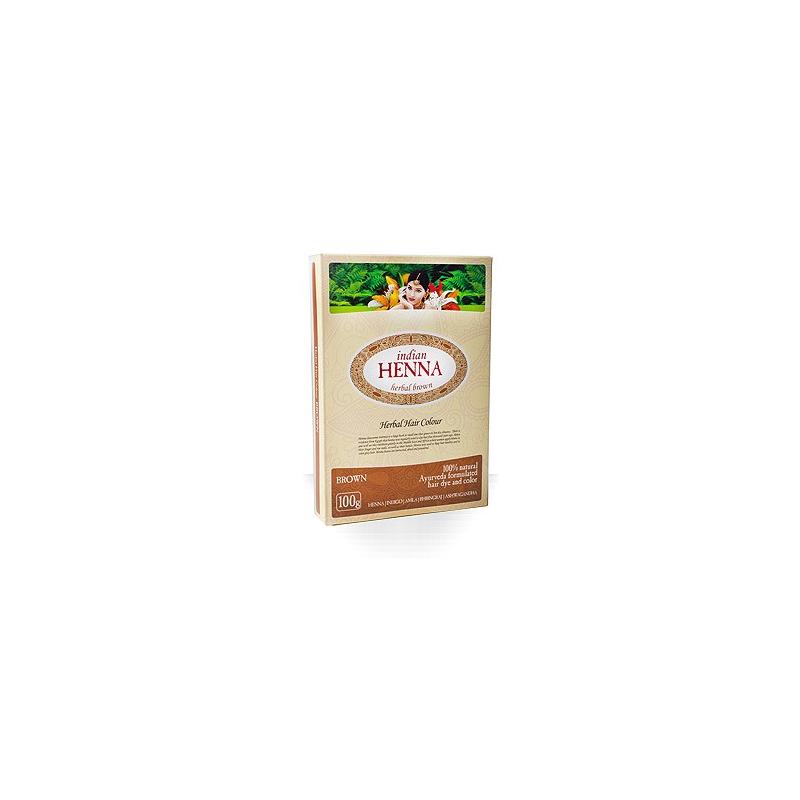 Natūralūs rudi plaukų dažai Chna INDIAN HENNA, 100 g