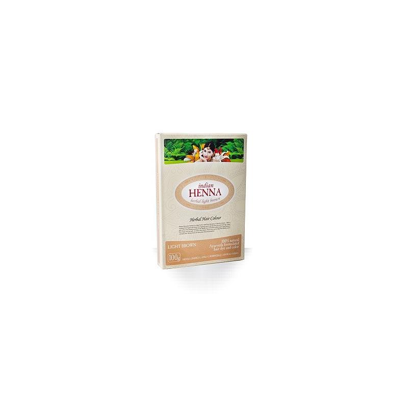 Natūralūs šviesiai rudi plaukų dažai Chna INDIAN HENNA, 100 g