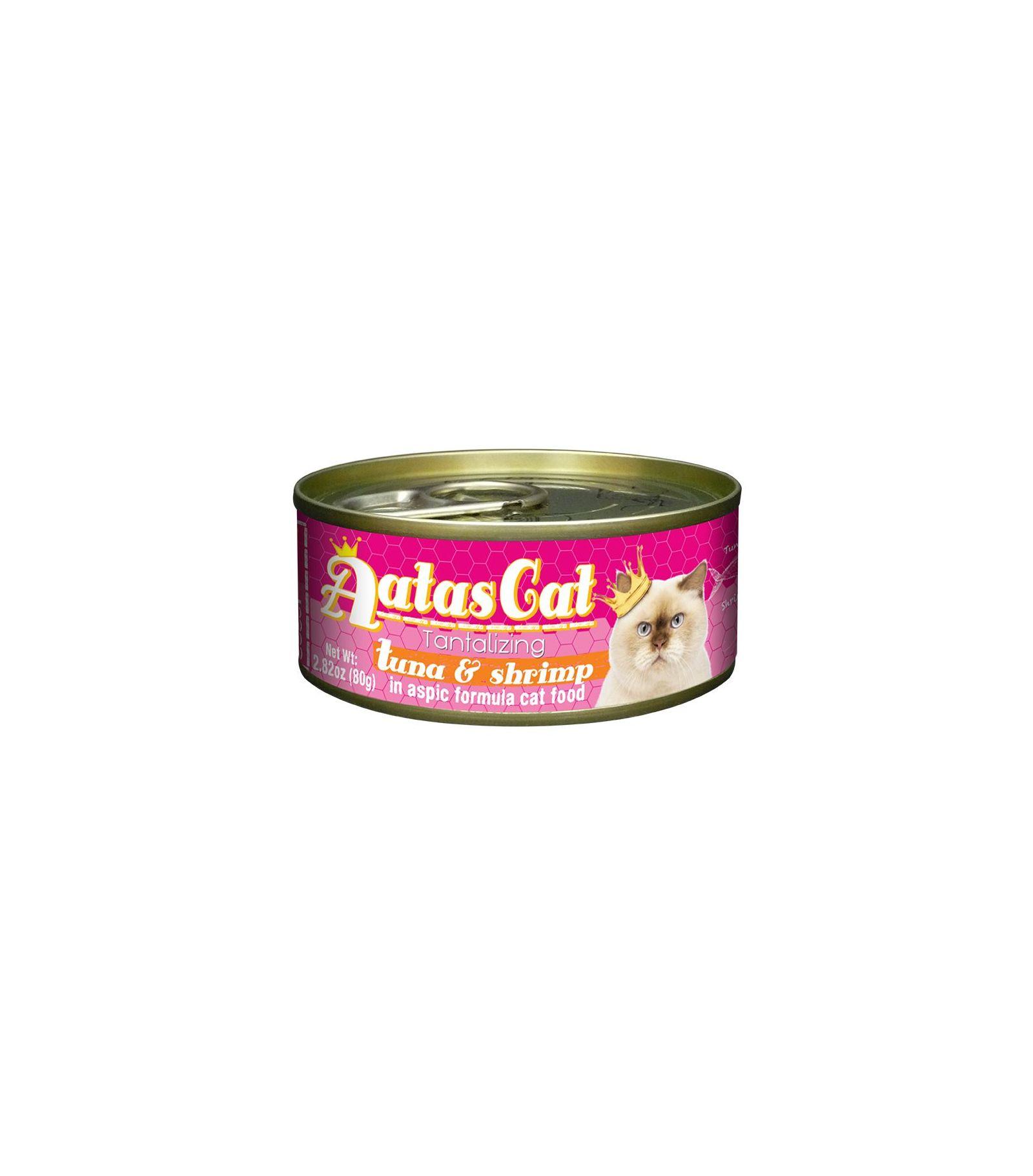 Konservas katėms AATAS Cat Tantalizing Tuna&Shrimp, 80 g