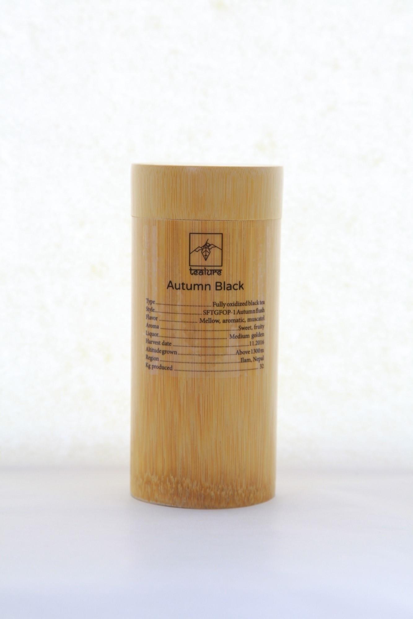 Juodoji arbata iš Himalajų TEALURE bambuko dėžutėje  70g