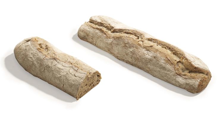 Kaimiška čiabatos duona su miežių salyklu ir sezamo sėklomis, kepta ant akmens, 450g