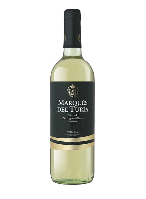 Baltasis sausas vynas Marqués del Turia Viura & Sauvignon pagamintas Valencijos regione, Ispanijoje