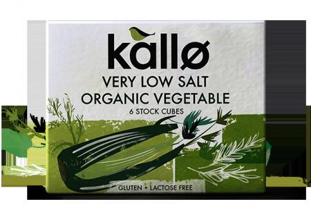 Ekologiški daržovių sultinio kubeliai KALLO FOODS, su sumažintu druskos kiekiu, 6×11 g