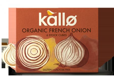 Ekologiški Prancūziškų svogūnų sultinio kubeliai KALLO FOODS, 6×11 g