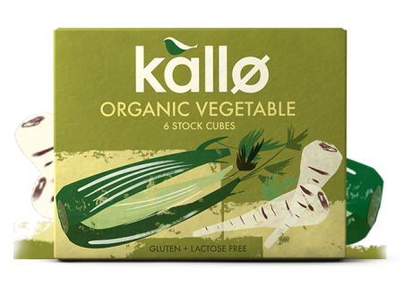 Ekologiški daržovių sultinio kubeliai KALLO FOODS, 6×11 g