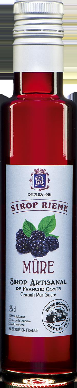 Gervuogių skonio sirupas SIROP RIEME 0,25L