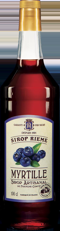 Mėlynių skonio sirupas SIROP RIEME 1L