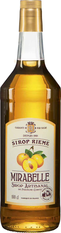 Mirabelio slyvų skonio sirupas SIROP RIEME 1L