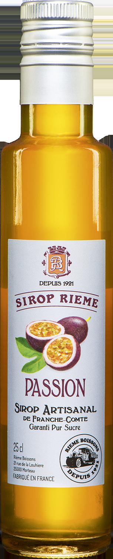 Pasiflorų skonio sirupas SIROP RIEME 0,25L