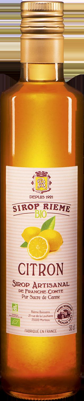 Ekologiškas citrinų skonio sirupas SIROP RIEME 0,50L