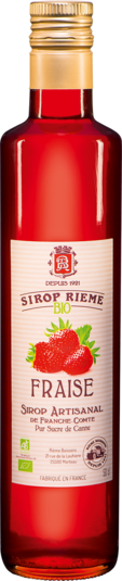 Ekologiškas braškių skonio sirupas SIROP RIEME 0,50L