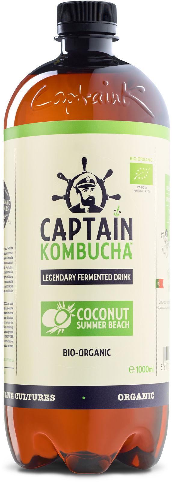 Ekologiška CAPTAIN KOMBUCHA, kokosų skonio,1L