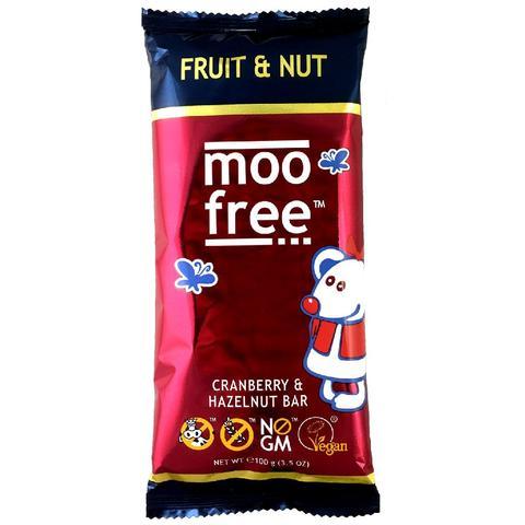 Ekologiškas šokoladas MOO FREE su riešutais ir vaisiais, 100 g