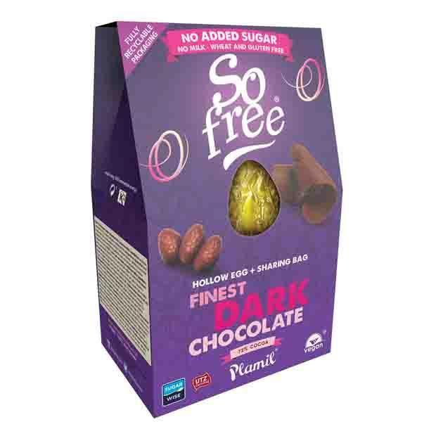 Šokoladinis kiaušinis PLAMIL So Free, 125 g