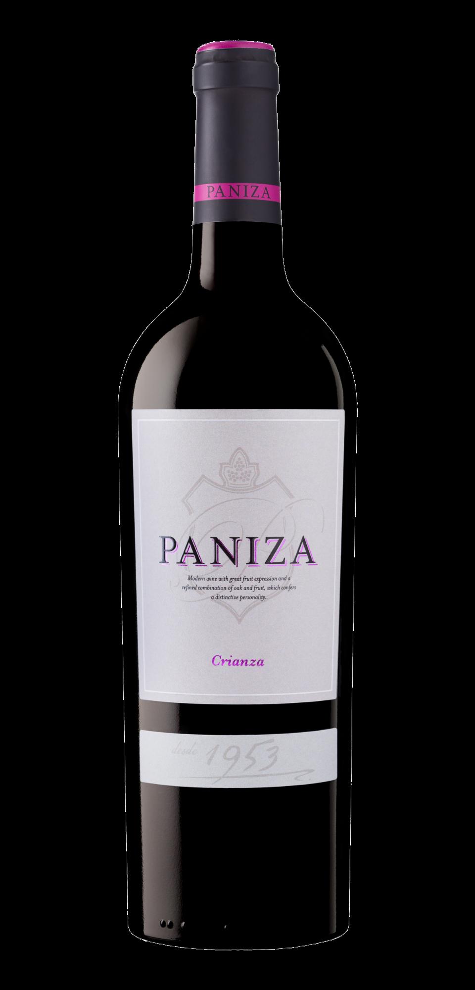 Raudonasis sausas rūšinis vynas PANIZA CRIANZA pagamintas Karinjenos regionas, Ispanijoje