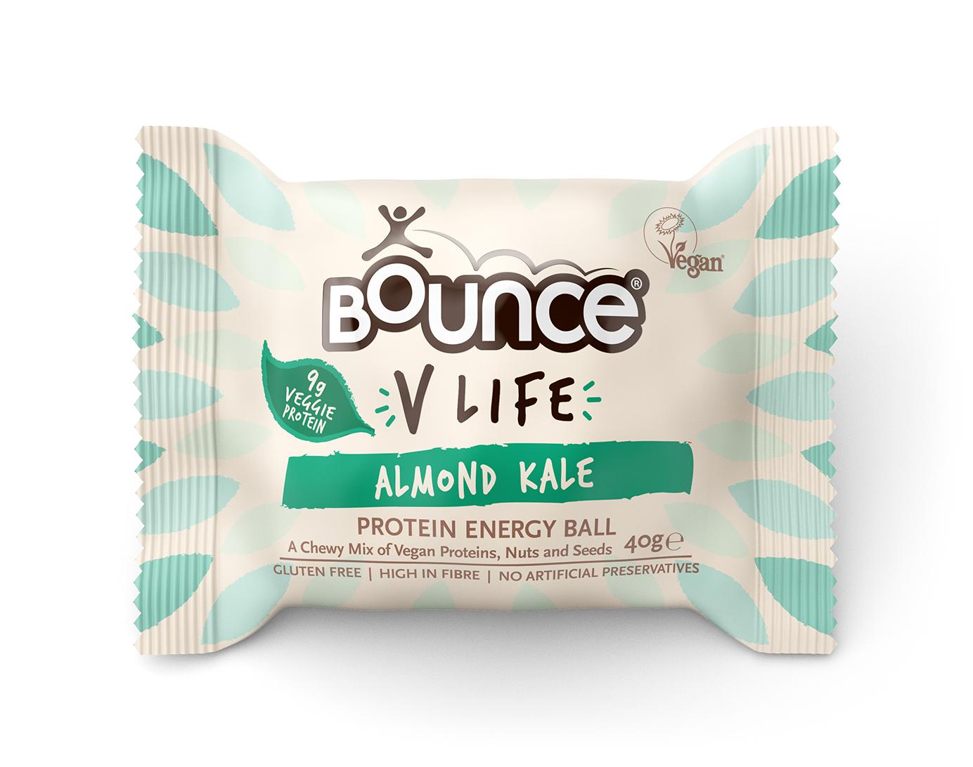 """Energinis batonėlis BOUNCE """"almond kale"""", 40 g"""