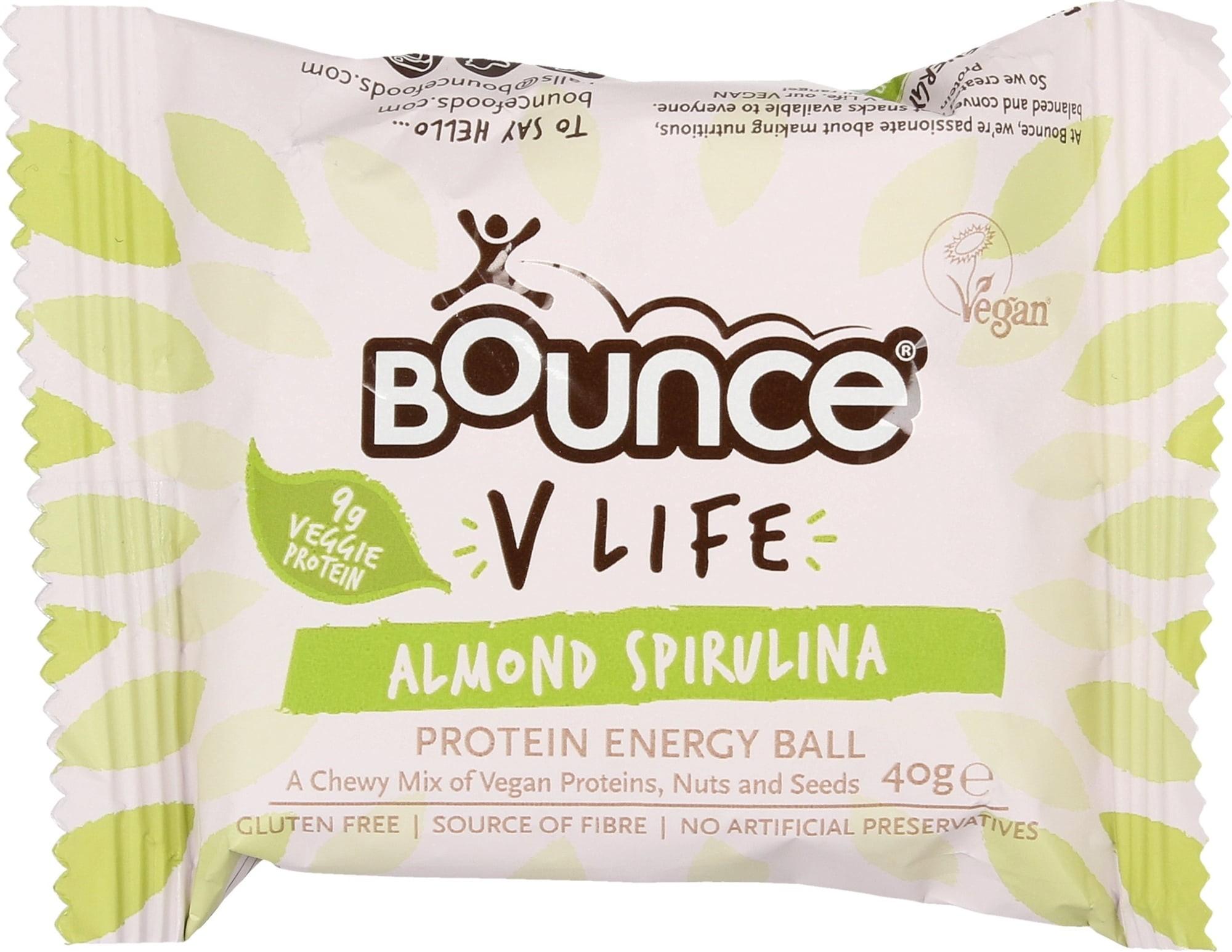 """Energinis batonėlis BOUNCE """"almond spirulina"""", 40 g"""