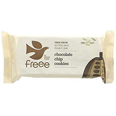 Ekologiški sausainiai DOVES FARM su šokolado gabaliukais, 180 g