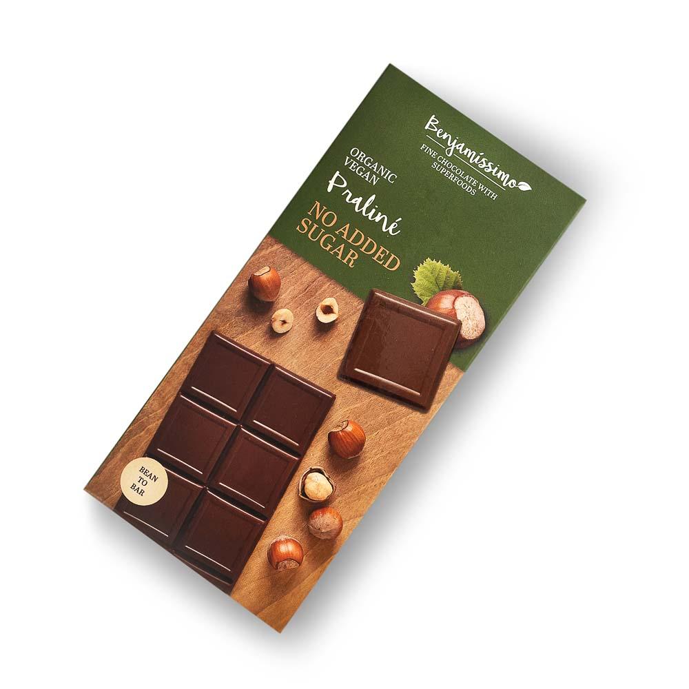 Ekologiškas šokoladas BENJAMISSIMO be cukraus, 70 g