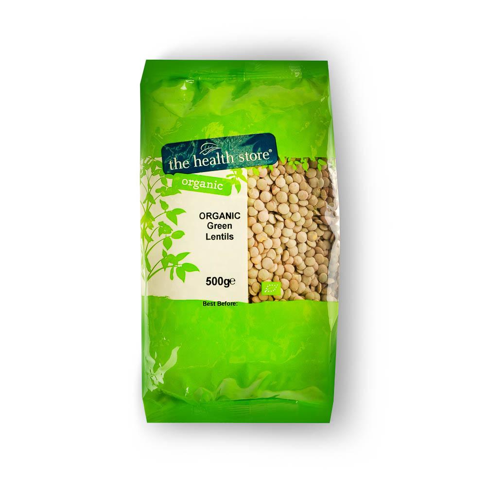 Ekologiški žalieji lęšiai THS ORGANIC, 500 g