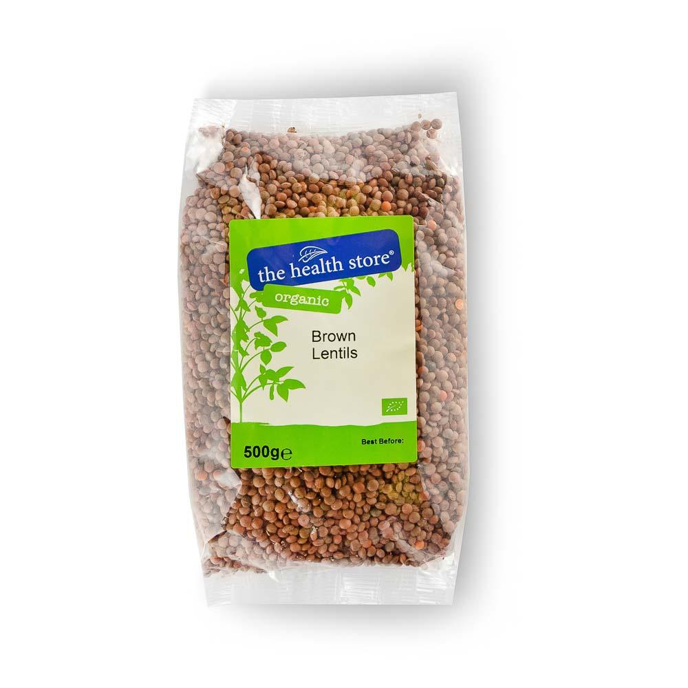 Ekologiški rudieji lęšiai THS ORGANIC, 500 g