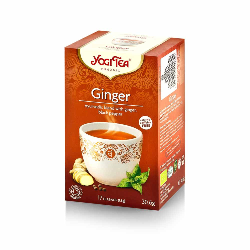 YOGI TEA Imbierinė ekologiška ajurvedinė arbata, 30g