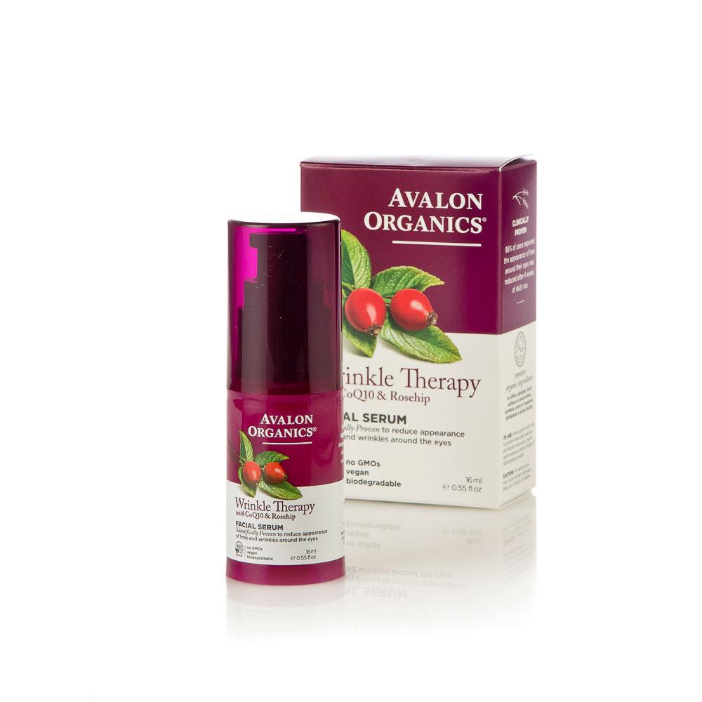 Veido serumas nuo raukšlių AVALON ORGANICS su CoQ10 ir erškėtuogėmis, 16 ml
