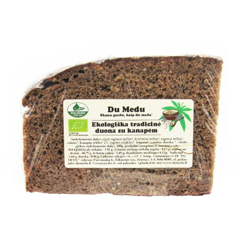 Ekologiška tradicinė duona su kanapėm DU MEDU