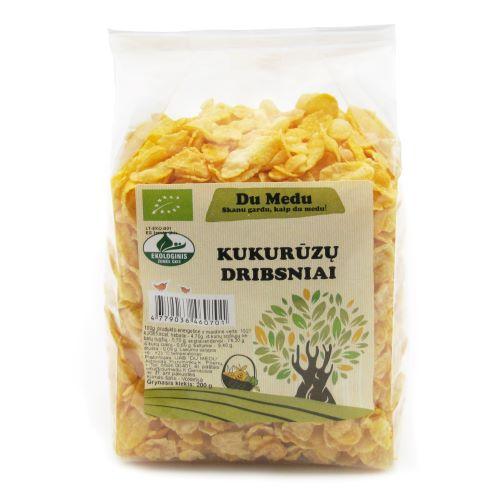 Ekologiški kukurūzų dribsniai DU MEDU, 200g